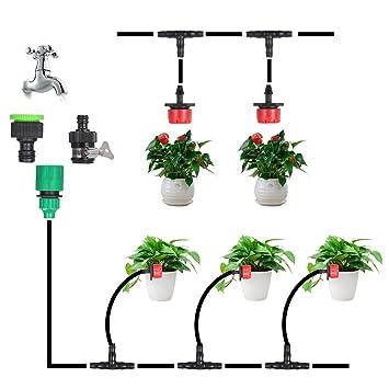 Amazon.com: Decdeal Sistema de riego de jardín, 49.2 ft ...
