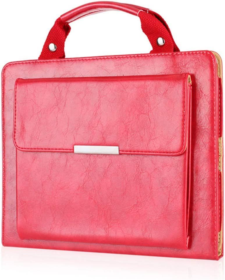 iPad Pro 9.7 Case Outdoor,SIX-SEVEN Slim Business Style Handbag Document Card Pocket with Hand Strap Folio Flip Sleeve for 9.7 inch iPad Pro Case,Red