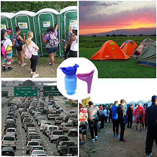 2 Pcs Emergency Urinal Women Mini Outdoor Portable Shrinkable Travel Car Camping Pee Urine Bottle Personal Mobile Toilet For Kids Adult