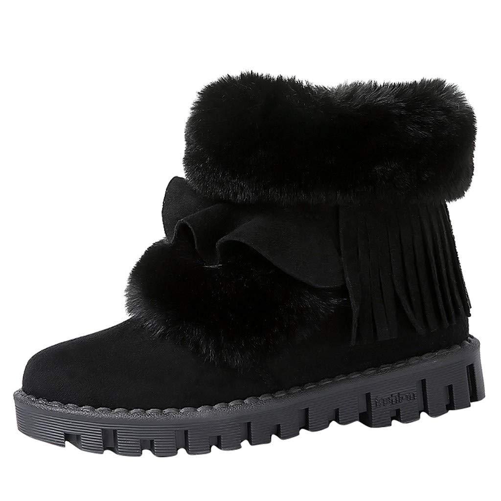 Yezijin Women Fashion Casual Snow Boots Leisure Plush Boots Warm Flat Cotton Shoes Under 25 by Yezijin