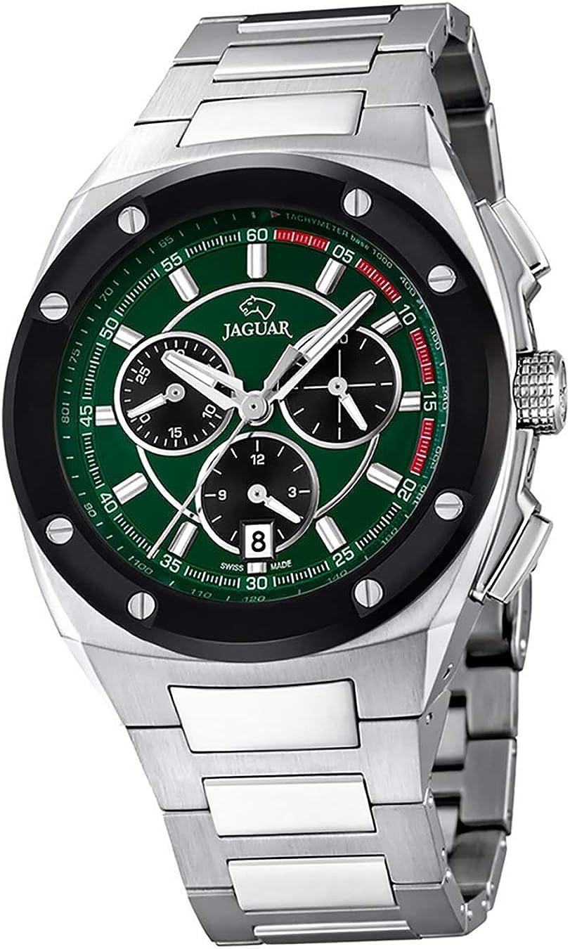 Jaguar J807/2 - Reloj para hombre con cadena de acero, cristal zafiro y swiss made.