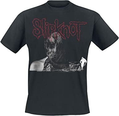 Slipknot WANYK Grey Cover Tour 2019 Hombre Camiseta Negro, Regular