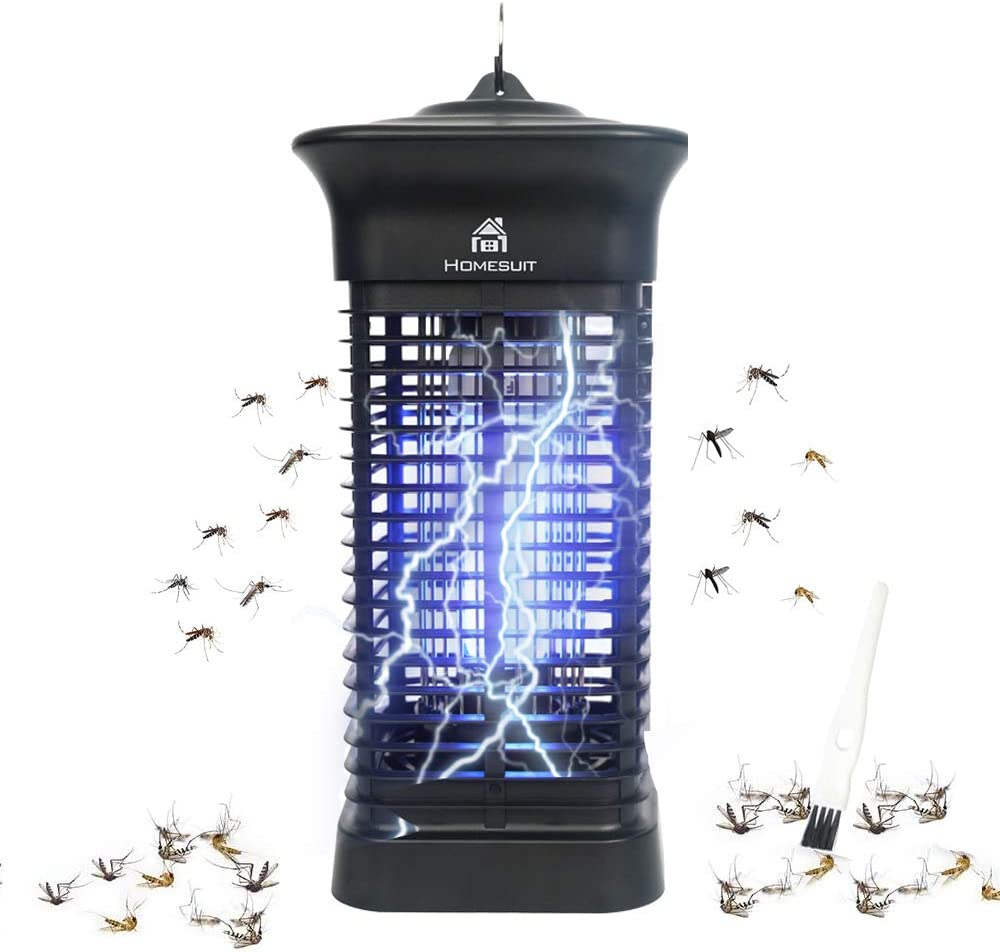 Homesuit Bug Zapper 15W for Outdoor & Indoor - Effective 4000V Electric Mosquito Zappers/Killer - Insect Fly Trap, Waterproof Outdoor - Electronic Light Bulb Lamp for Home/Office//Backyard/Patio