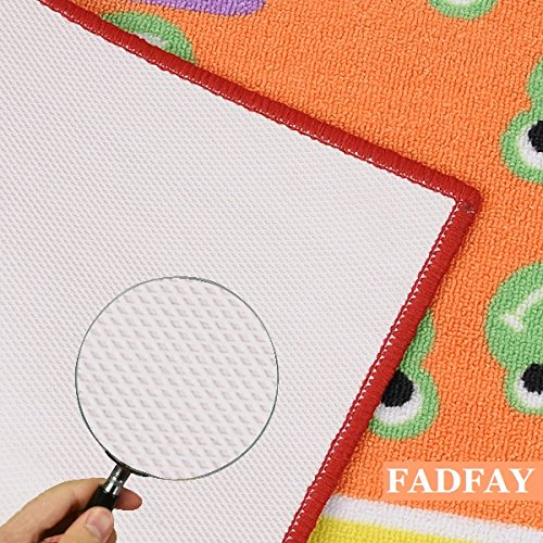 FADFAY Home Textile,Fashion Hopscotch Kids Carpet Bedroom,Sweet Pink Rug,Designer Figure Childrens Rugs