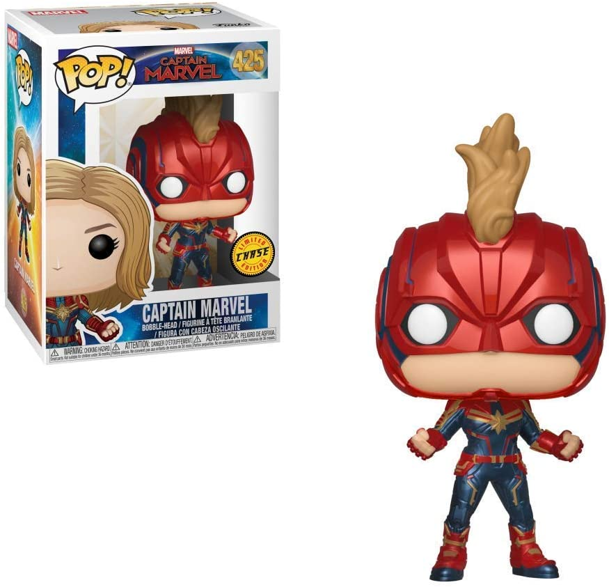 Funko Pop! Chase - Figura de Vinilo Captain Marvel de Captain ...