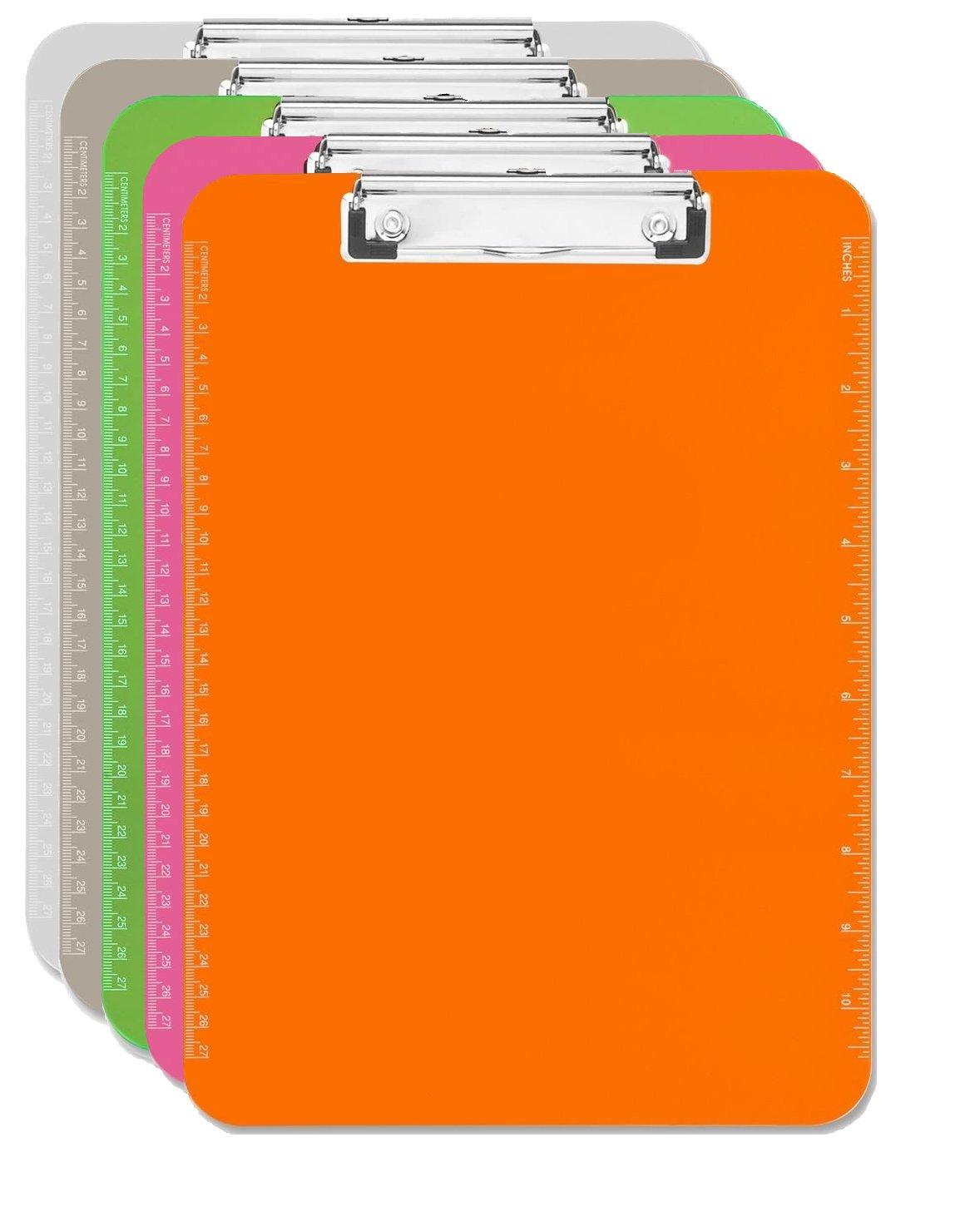 Clipboard Clear Smoke Orange Green Image 1