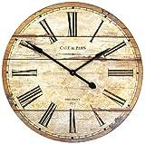 Zentique Wooden Clock, Brown Review