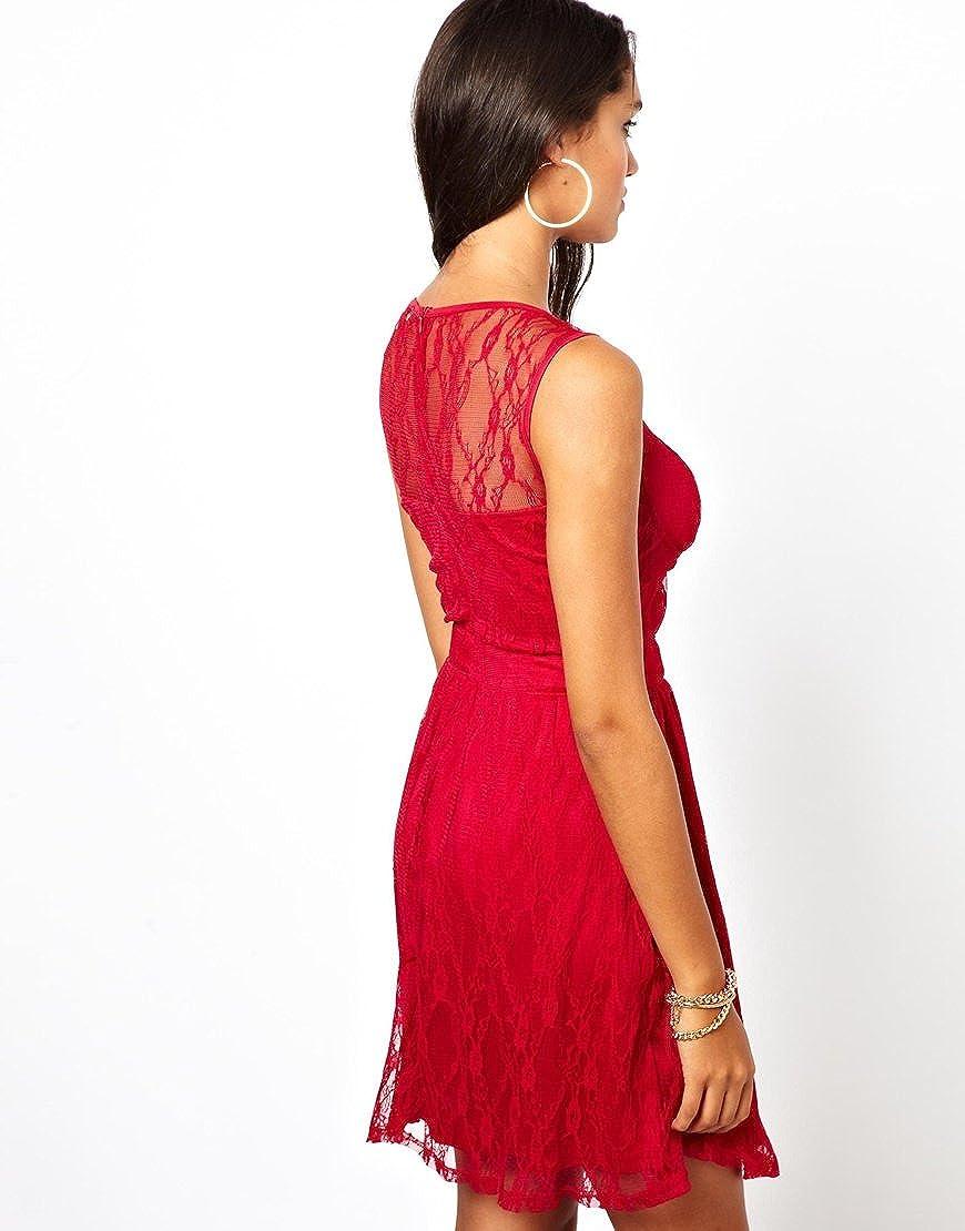 RARE LONDON / LACE PANEL DRESS @TopShop RRP £42 (Size UK 12/ EU 40 / USA 8): Amazon.co.uk: Clothing