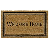 Rubber-Cal Contemporary Welcome Home Mats Natural Coir Matting, 18 x 30-Inch