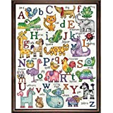 Design Works Crafts ABC Sampler Counted Cross Stitch Kit, 12 by 16