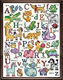 Design Works Crafts 2852 ABC Sampler Counted Cross Stitch Kit, 12 by 16''