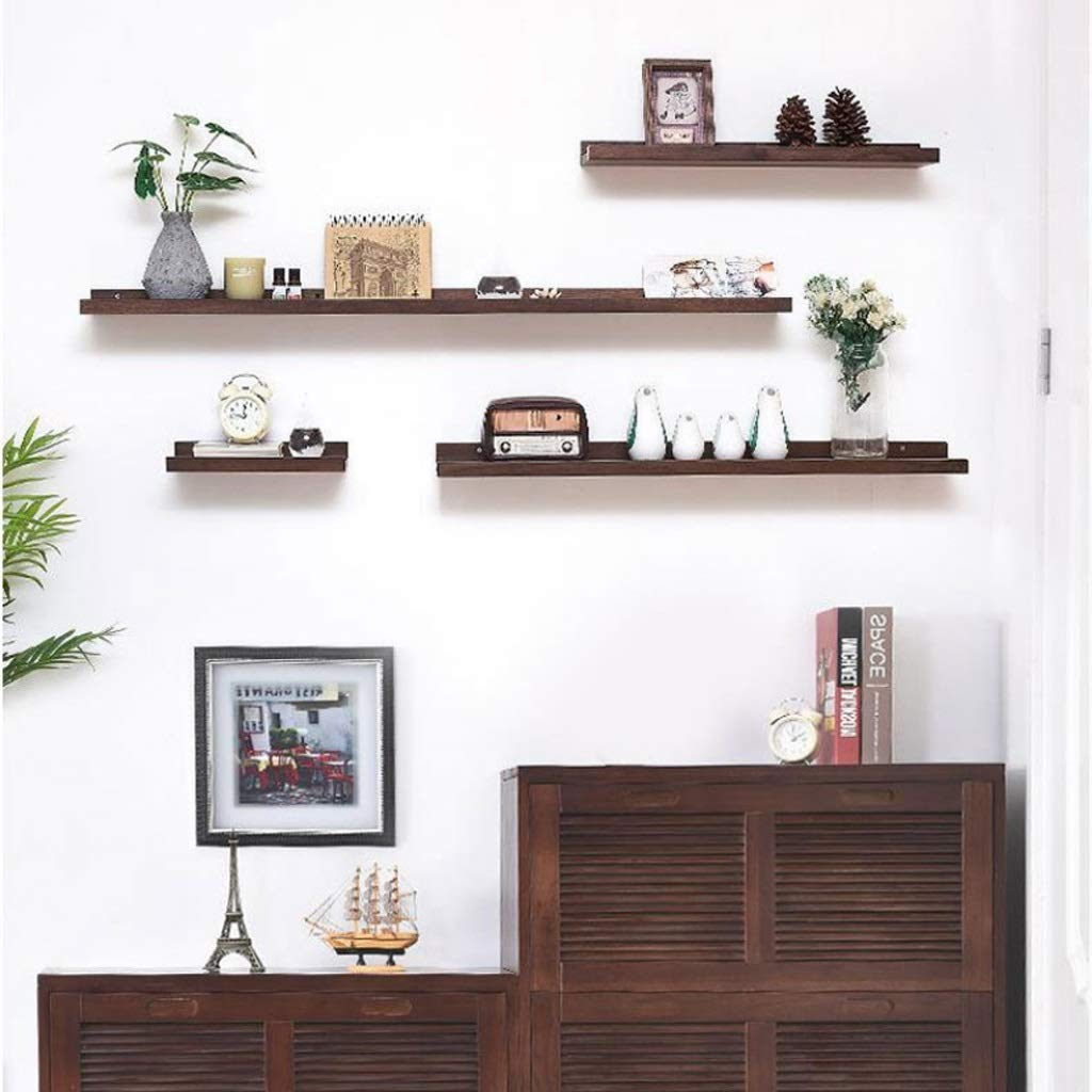 Estantes de pared flotante estante de exhibici/ón de montaje en pared estantes de pared de madera maciza Decorativo for el hogar W: 15cm L: 30cm // 60cm // 90cm // 120cm estante de repisa de exhibici/ón