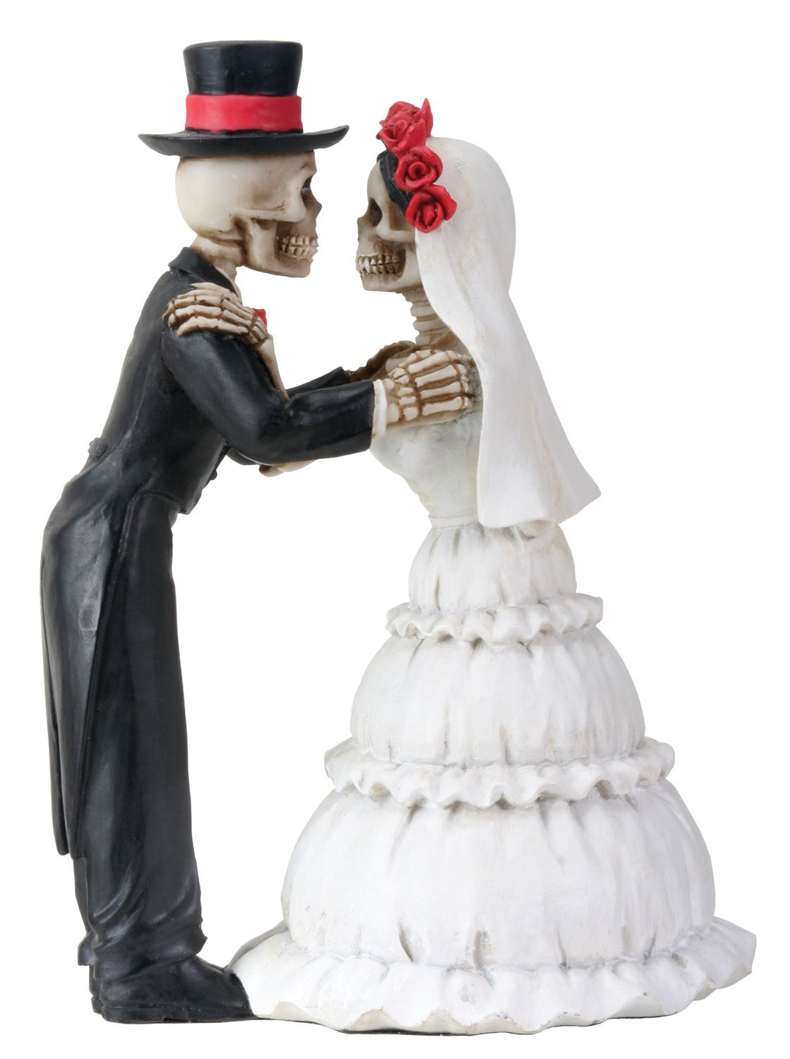 Amazon.com: 4 Inch Day Of The Dead Skeleton Wedding Couple Kiss ...