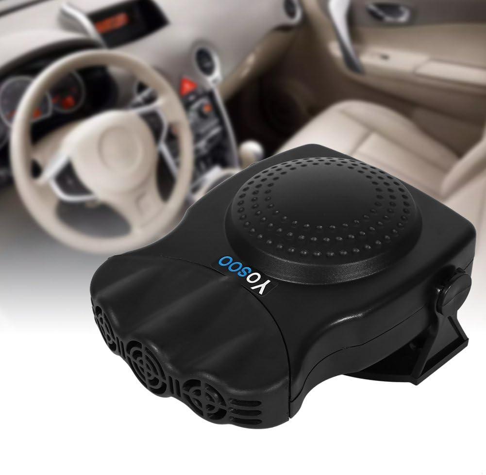 Qiilu 12V 150W 2 in 1 Car Vehicle Heater Heating Cool Fan Windscreen Demister Defroster