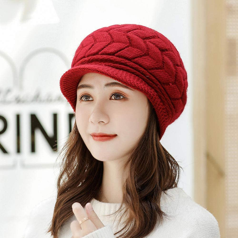 Rabbit Fur Hat Lady Autumn...
