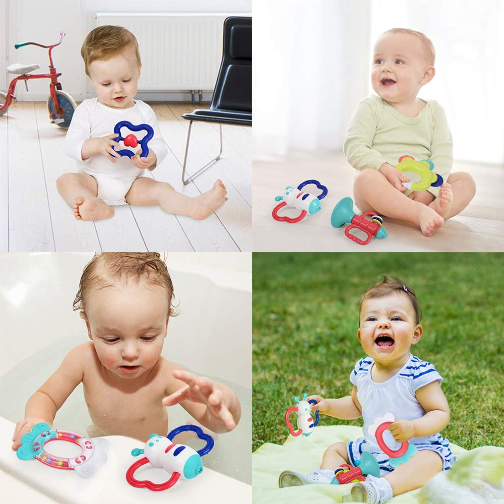 Infant Teething Toys Teethers Key Baby Bathtime Fun Toys with Musical Sound NextX Baby Rattles