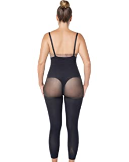 93f9270f19740 Leonisa Invisible Tummy Control Bodysuit Shapewear Leggings for Women with  Leg Compression Shorts