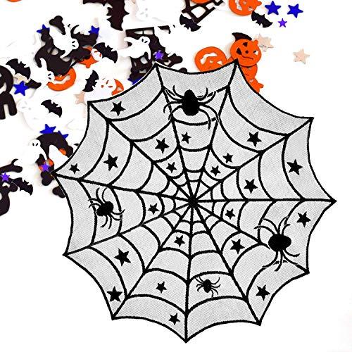Vandorla 1 Pack Spider Web Table Topper Black