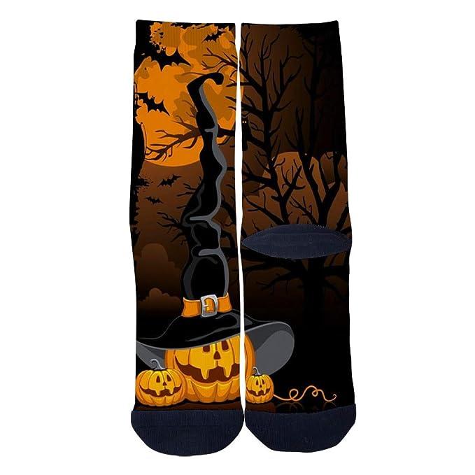 Mens Womens Custom Crew Socks Terrible Halloween Pumpkin Wizard