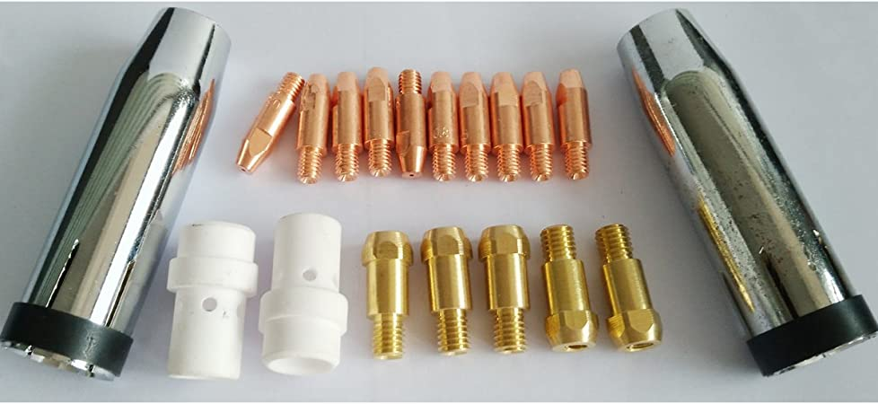 19pcs Accessories Kit For Binzel MB 36KD MIG Welding Torch With Nozzles