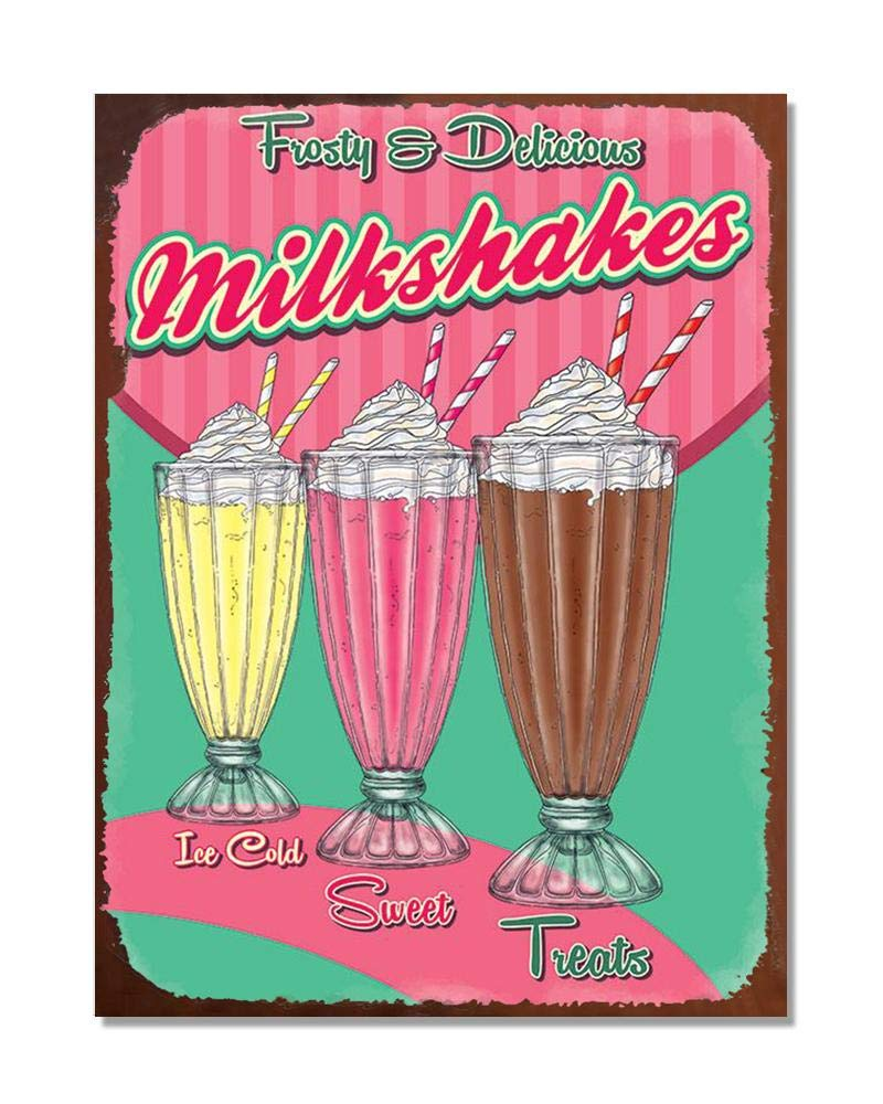 ICE CREAM IS GOOD    LARGE METAL TIN SIGN ` VINTAGE AD SHABBY CHIC KITCHEN