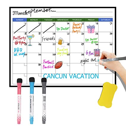 Calendario magnético para refrigerador, resistente a las manchas ...