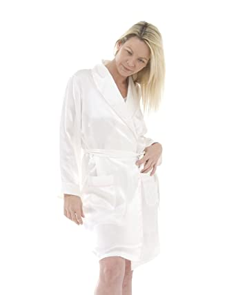 Short Silk Dressing Gown The House Of Silk Amazoncouk Clothing