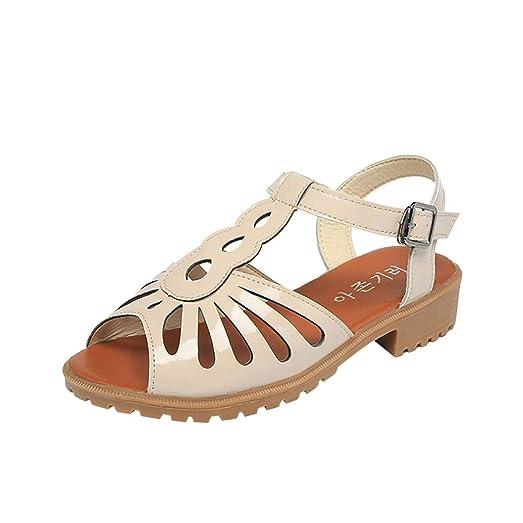 Fashion Women Summer Cutouts Sandals Open Toe Low Wedges Hollow Shoes