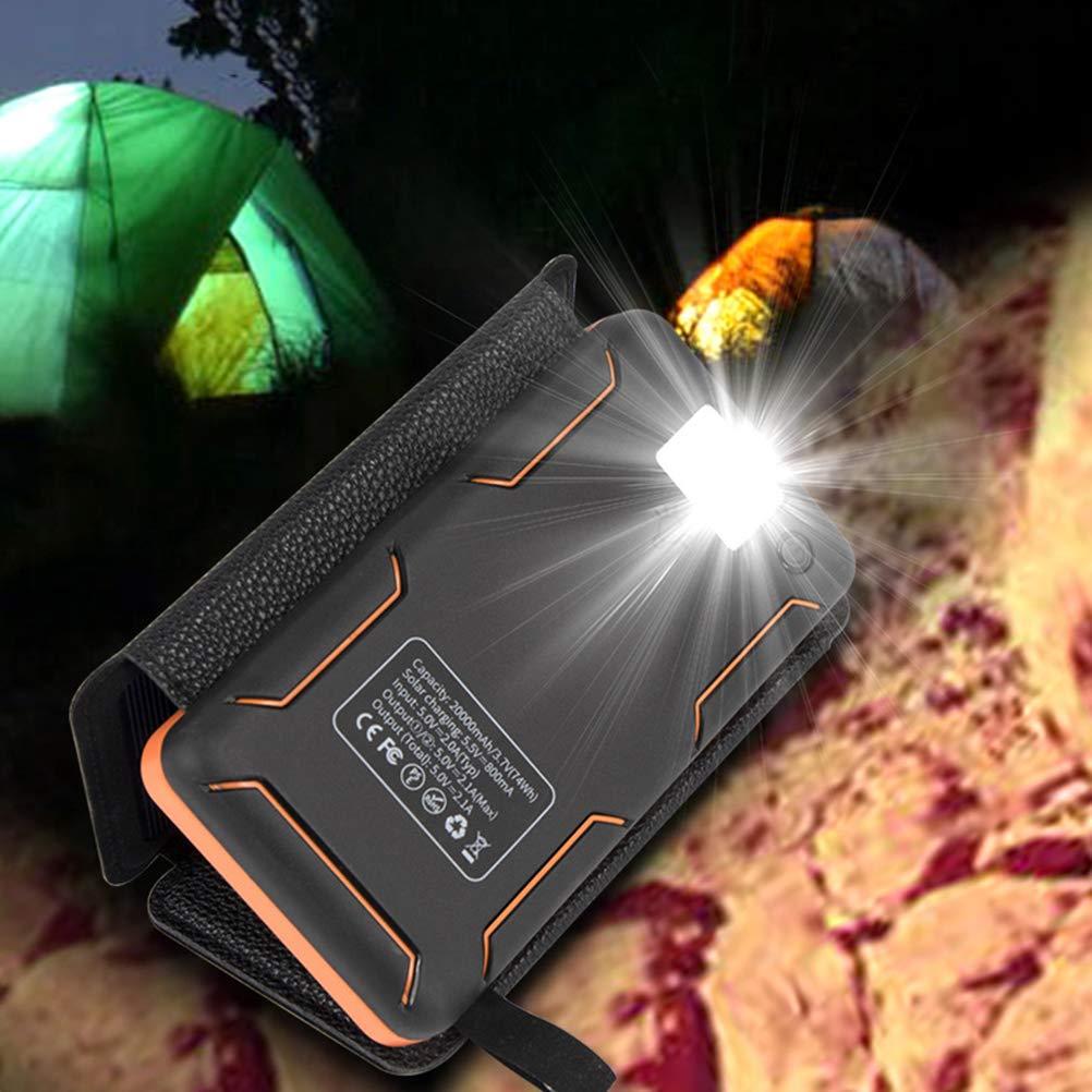 Uonlytech High Power 8W 10000mah Phone Charger Solar Powerbank Multifunction Outdoor Light