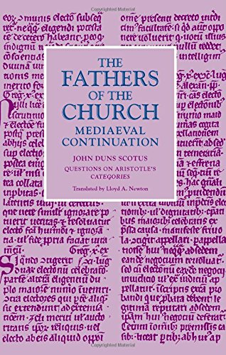 Questions on Aristotle's Categories (Fathers of the Church Medieval Continuations) by The Catholic University of America Press
