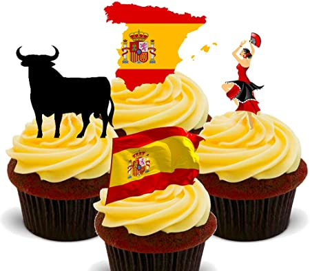España Fun Pack, comestible cupcake toppers – Pie oblea ...