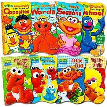 Pretend 3 New Sesame Street soft Bath Time Baby books Elmo Grover Growing Up