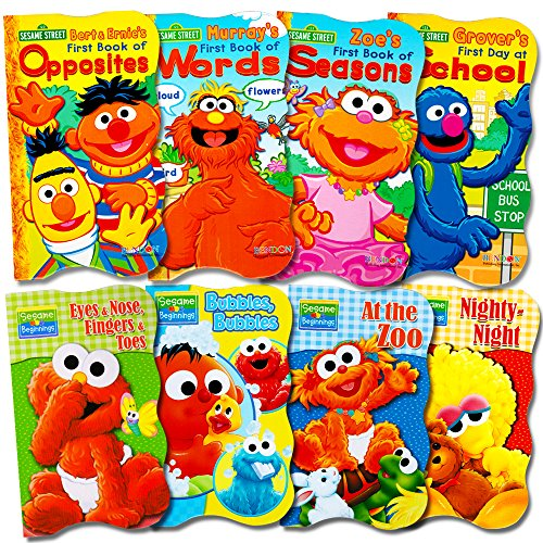 Sesame Street Ultimate Board Books Set For Kids Toddlers -- Pack of 8 Board Books (Furniture Wholesale Prices At)