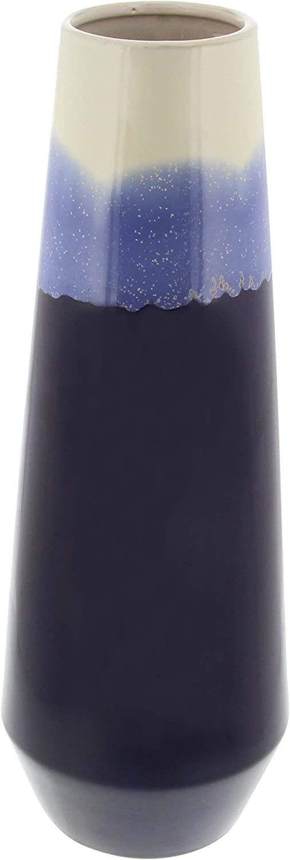 Deco 79 59936 Glazed Ceramic Tapered Cylindrical Vase, 20
