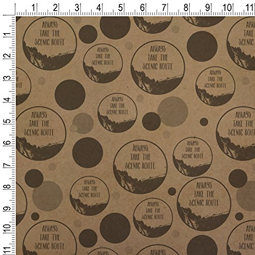Always Take the Scenic Route Hiking Travel Premium Kraft Gift Wrap Wrapping Paper Roll by Graphics and More (Image #1)