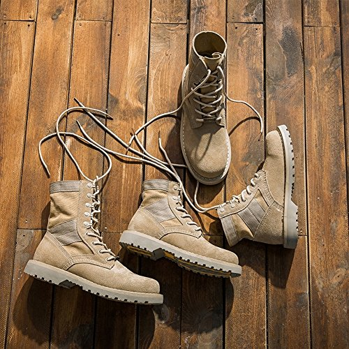 Female Boots Martin Boots Female Desert Boots round Head with Boots with Boots , khaki , EUR35
