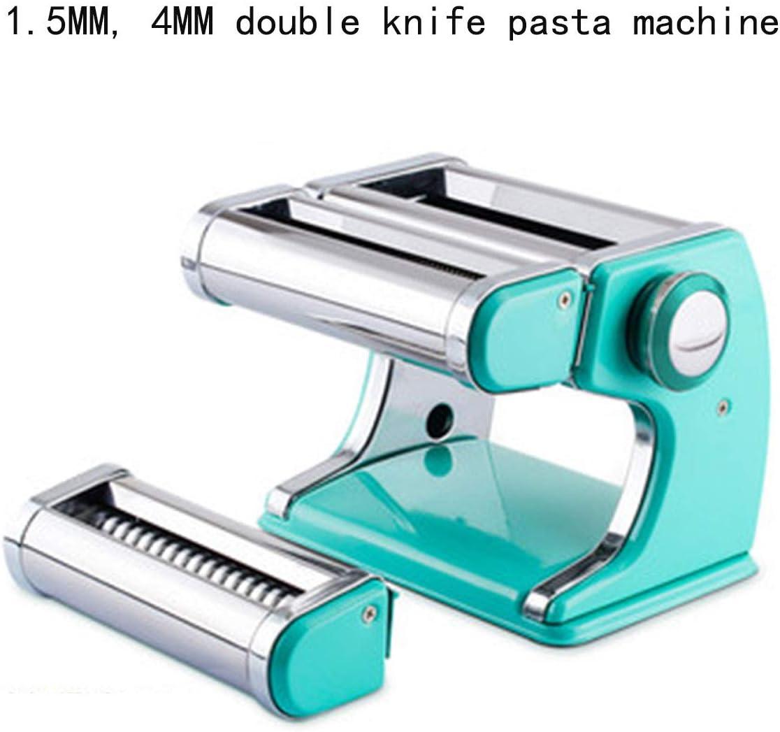 Máquina de pasta, máquina de cortar pasta manual, máquina de pasta de acero inoxidable para hacer pasta italiana de gran tamaño, máquina de pasta fresca para casa y cocina, 4 modelos C