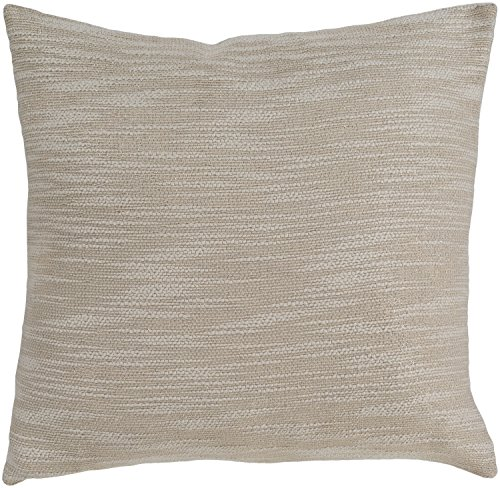 Surya Solid Accent Pillow With Champagne Finish (Lurex Accents)