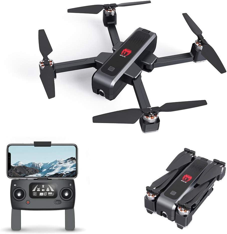EACHINE EX3 Drone 2k GPS, Drone Profesional con Camara 2k, Drone Brushless Motor, Drone GPS 5G, WiFi FPV Drone Tiempo Real, Flujo Óptico OLED Conmutable Remoto Drone Plegable Drone RC Quadcopter RTF