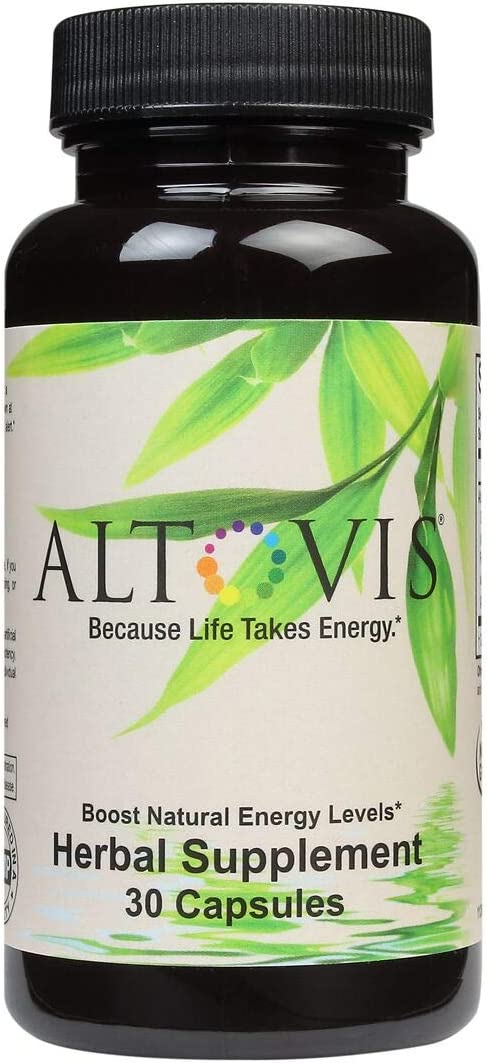 Altovis Energy Booster Boost Energy Levels, Fight Occasional Fatigue, Restore Mental Alertness Focus Naturally with Caffeine from Green Tea, Rhodiola, Ginseng, Eleuthero – 30 Capsules