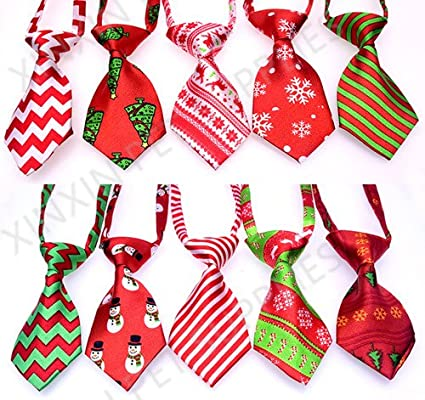 Pet House 907BB11 Christmas Adjustable Bow Neckties Dog Grooming Supplies, Mix Color, L Pet House Factory