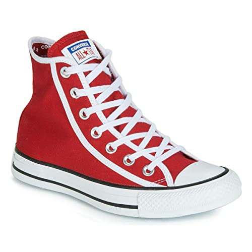 Converse Basket Toile Haute Chuck Taylor All Star Hi Rouge