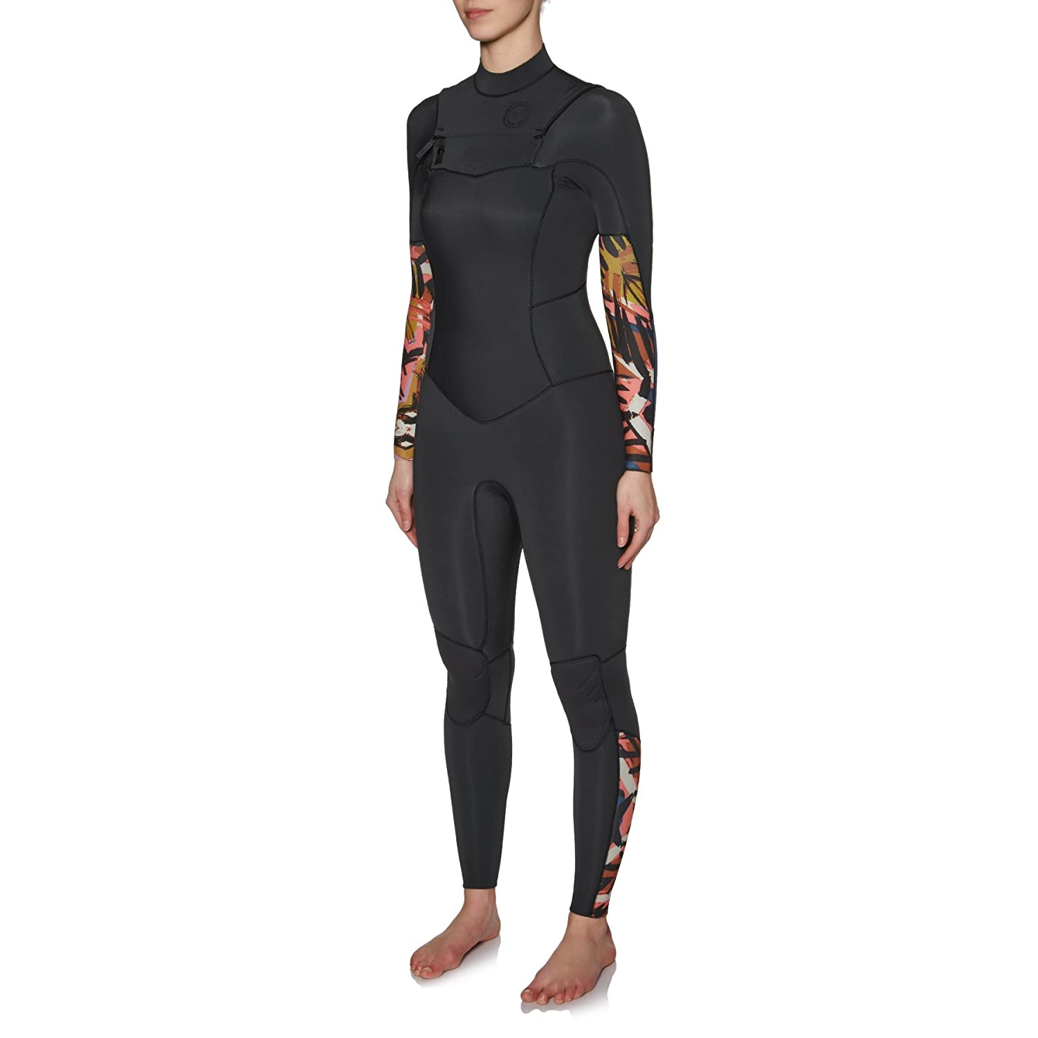 b447ae2412ada Amazon.com  Billabong Womens Salty Daze 3 2MM Chest Zip Wetsuit Tribal -  Easy Stretch Thermal Lining - Thermal Warm Heat Layer Layers  Sports    Outdoors