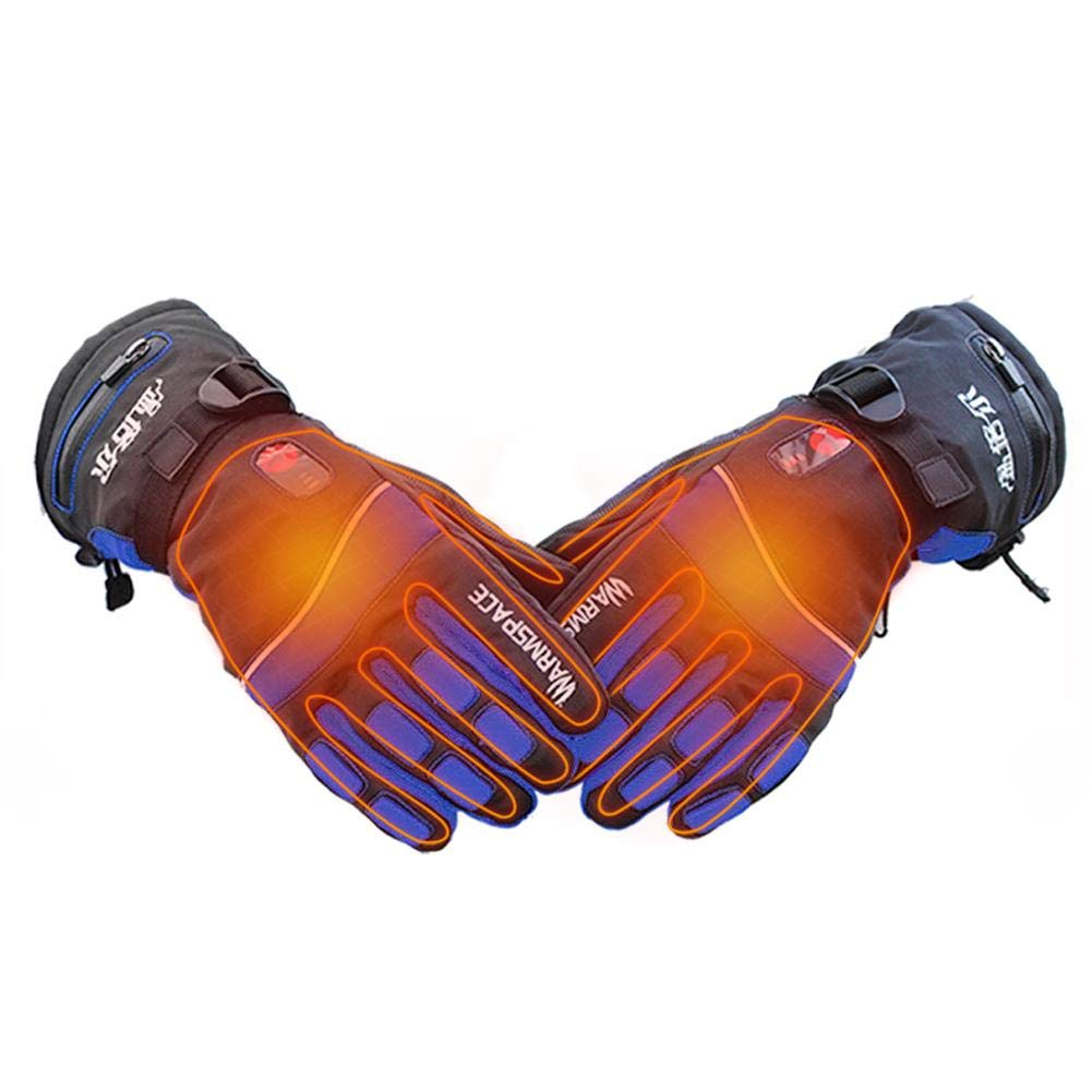 Heated Gloves ,Rechargeable Waterproof Insulated Electric Heating Gloves for Men and Women Double-Sided Heated Temperature Control Ski Gloves Works up to 3-6 Hours Ya-tube