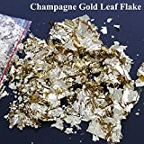 15gram Champagne gold leaf / foil flake ,shinning,decoration ornament, glass, craft ,drawing,free shipping