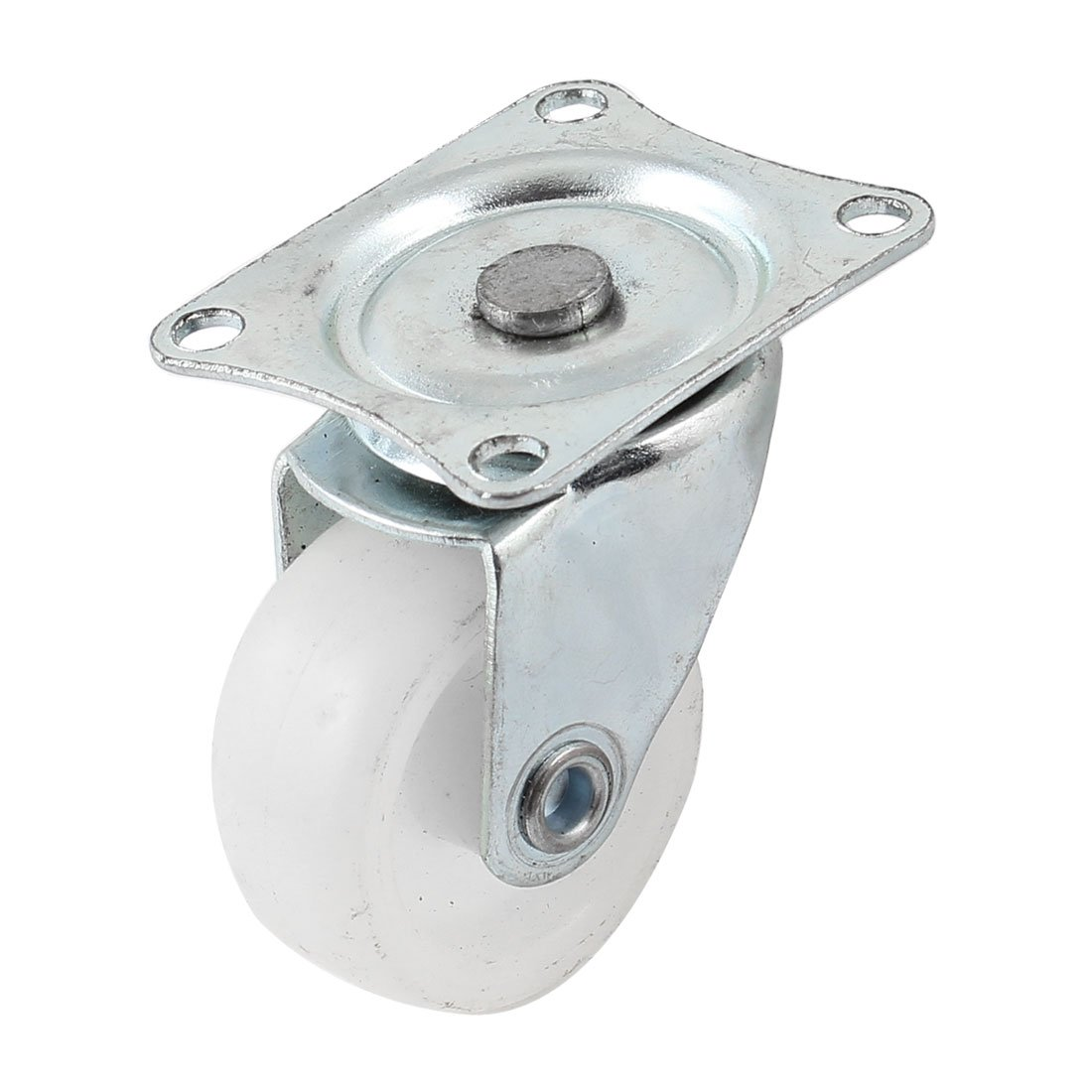 Uxcell a14030500ux0212 Fixed Metal Mounted Plate Rubber Ball Swivel Type Caster 1.2 Dia Wheel