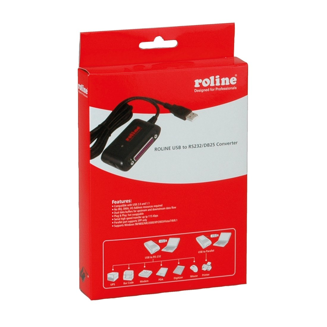 ROLINE CONVERTER CABLE USB TO RS232 DB25 DRIVER FOR WINDOWS