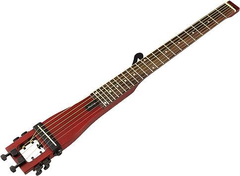 anygig Bass Guitarra acústica Guitarra rojo 4 cuerdas 24 trastes ...
