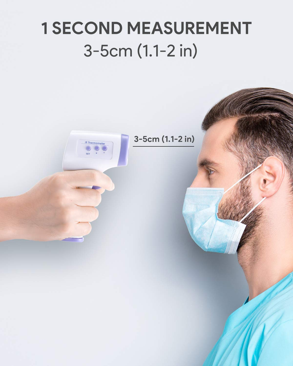 Non-Contact Infrared Thermometer Immediately LCD Display,Digital Forehead Thermometer for Baby Kids and Adults with Fever Alarm【Limited time Discount】