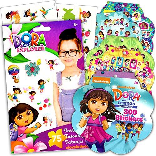 Dora The Explorer Stickers & Tattoos Party Favor Pack (200 Stickers & 75 Temporary Tattoos)